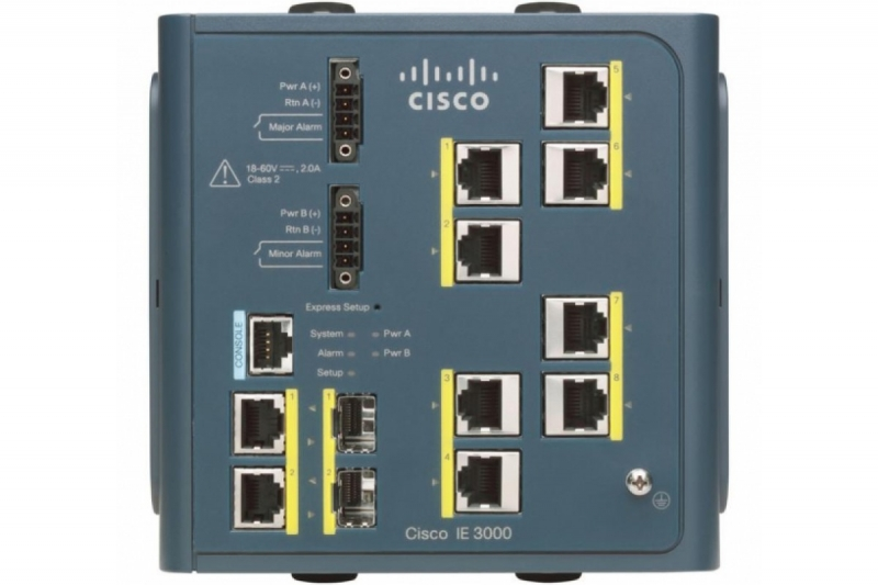 Коммутатор Cisco IE-3000-8TC IE 3000 Switch, 8 10/100 + 2 T/SFP